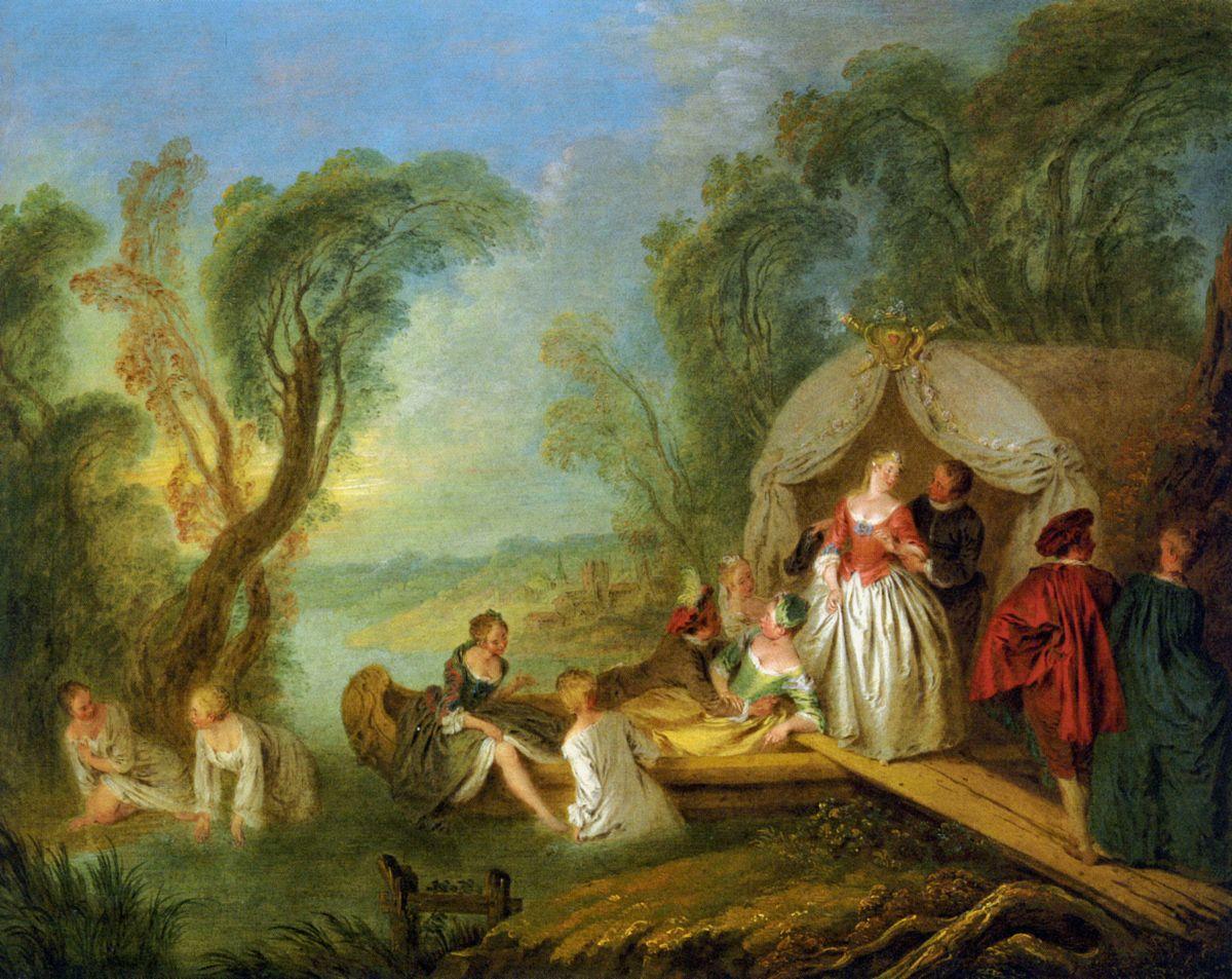 Fete Galante by Jean Baptiste Joseph Pater