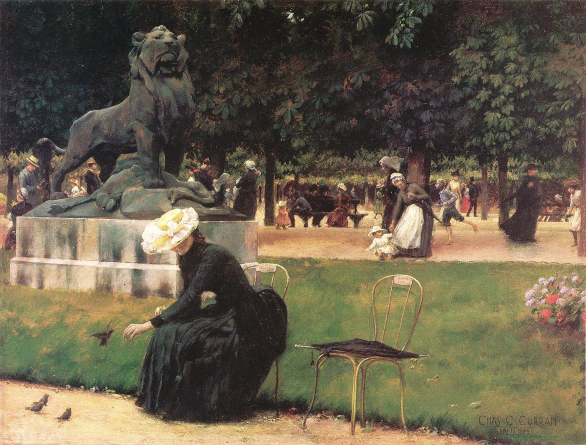 In the Luxembourg Garden by Charles Courtney Curran