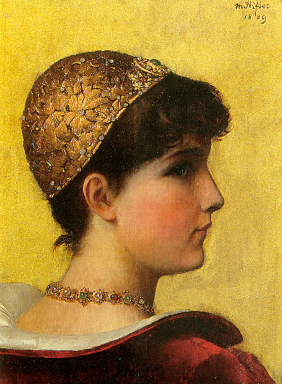 A Beauty in Historical Costume by Moritz Stifter