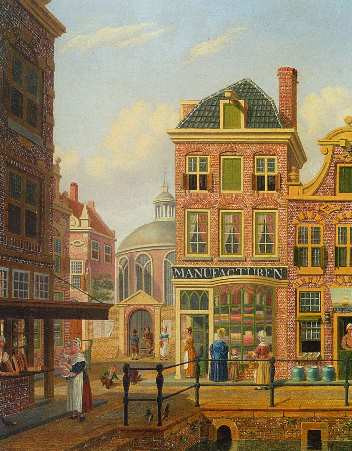 A Capriccio View in Amsterdam by Jan Hendrik Verheijen