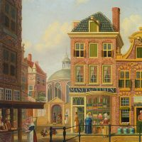 A Capriccio View in Amsterdam by Jan Hendrik Verheijen
