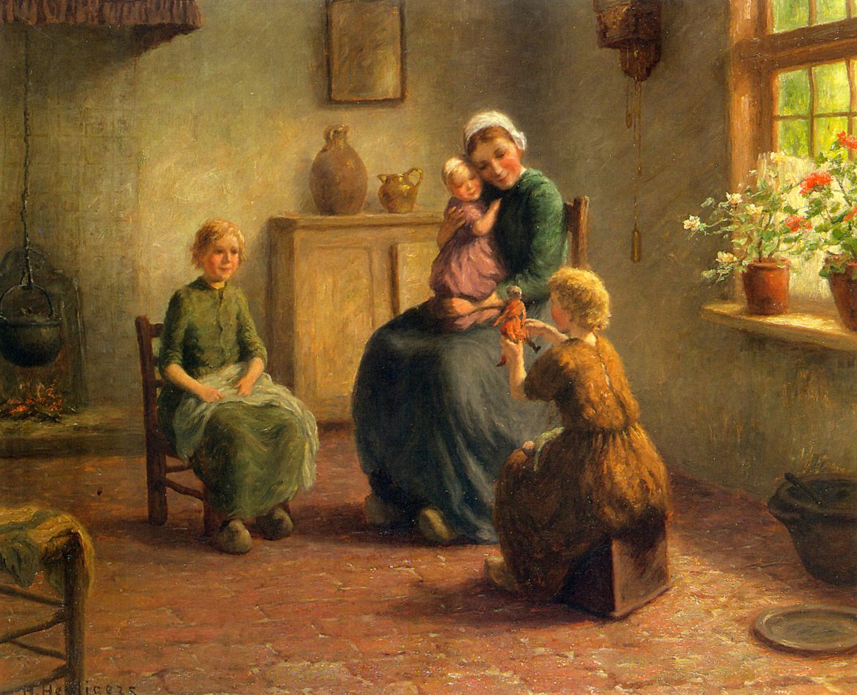A Happy Family by Hendrik Heyligers