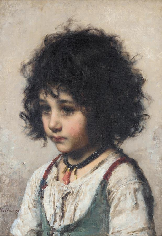 Young Girl by Alexei Alexeivich Harlamoff