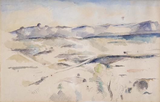 The Chaine de l'Etoile Mountains by Paul Cezanne