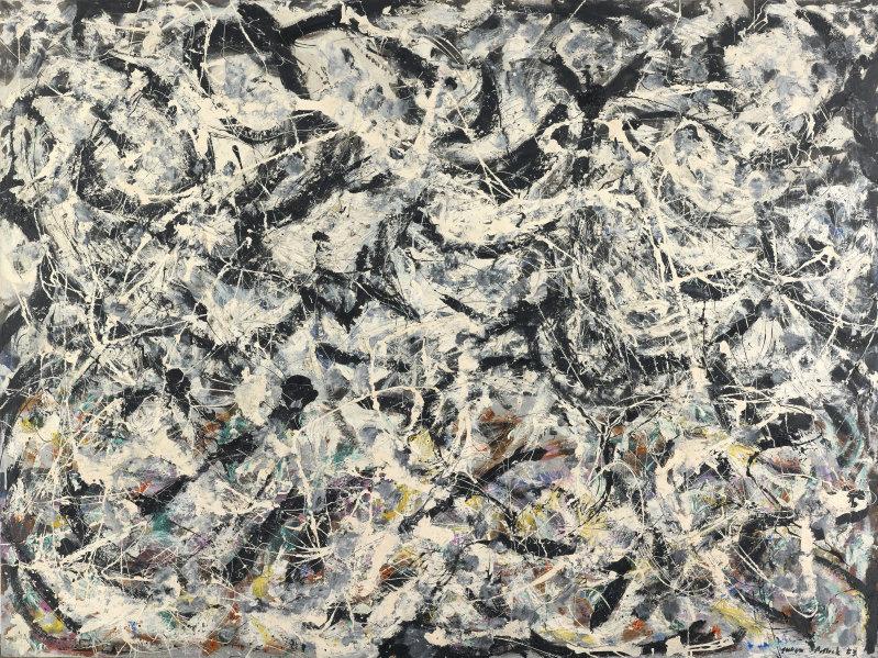 Greyed Rainbow by Jackson Pollock