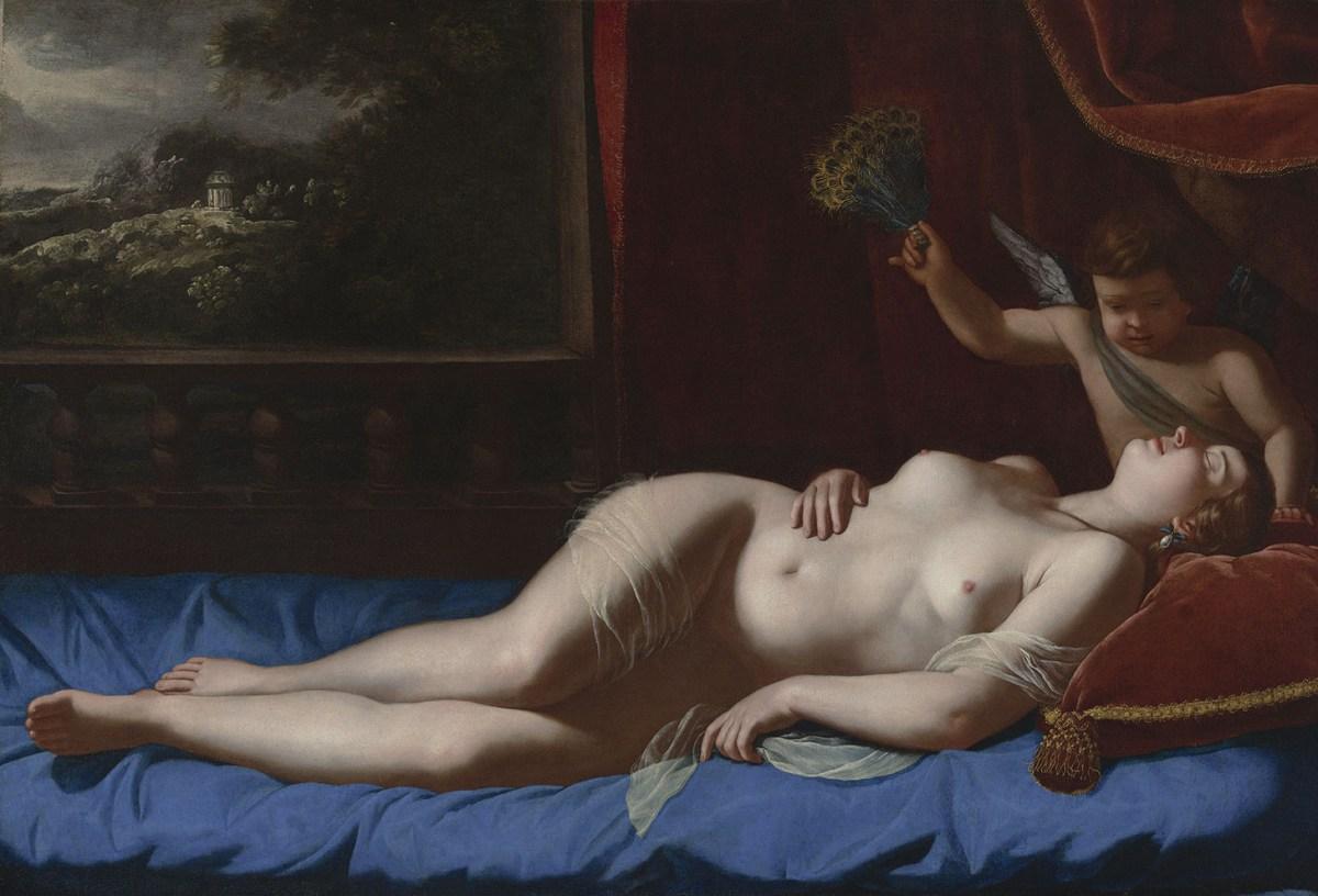 Venus and Cupid by Artemisia Gentileschi