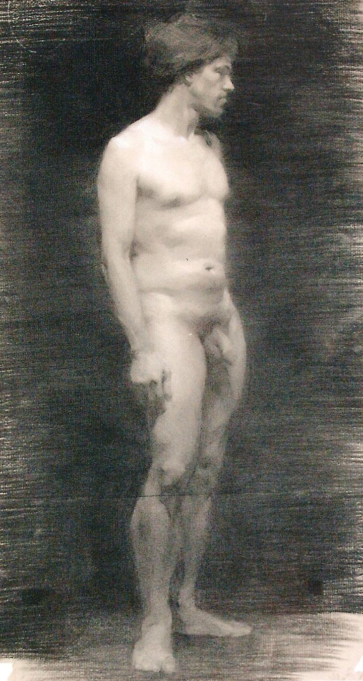 David Charcoal Figure Study by Valentina Zlatarova