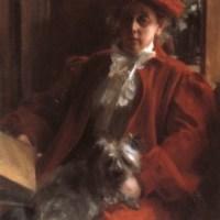 Emma Zorn och hunden Mouche by Anders Zorn