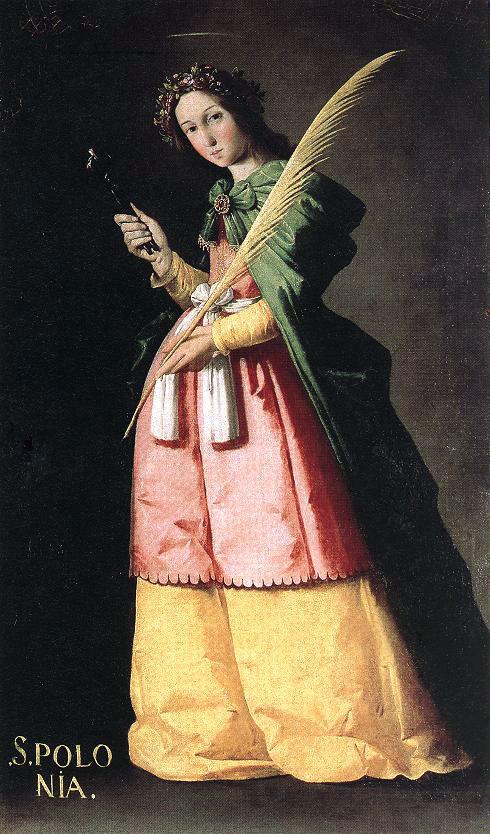 St Apolonia by Francisco de Zurbaran