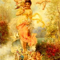 The Goddess Of Spring by Hans Zatzka