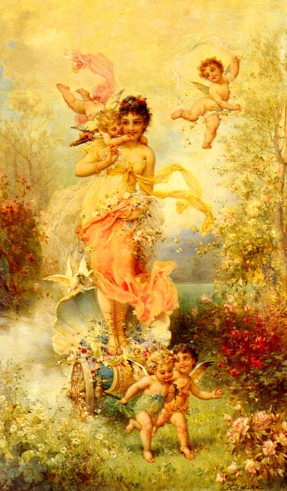 The Goddess Of Spring by Hans Zatzka