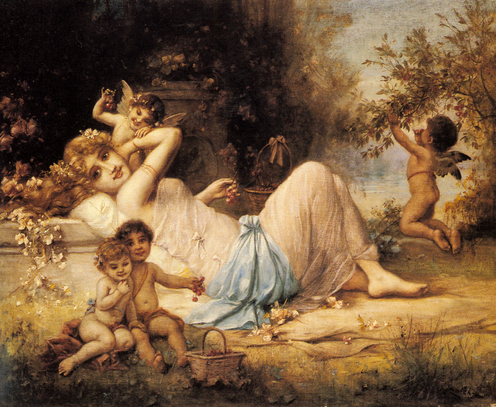 Venus and her Attendants by Hans Zatzka