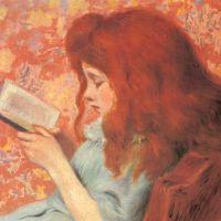 Young Girl Reading by Federigo Zandomeneghi