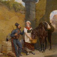 A Cossack and a Townsgirl by Alexander Bogdanovich Villevalde