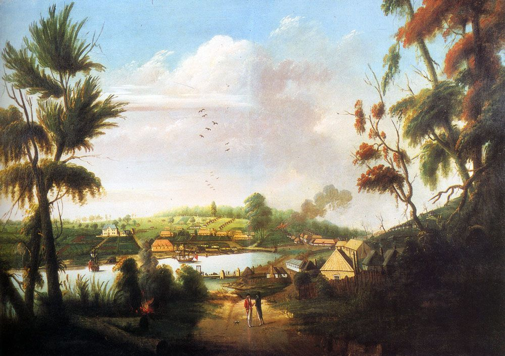 A Direct North General View Of Sydney Cove by Thomas Watling