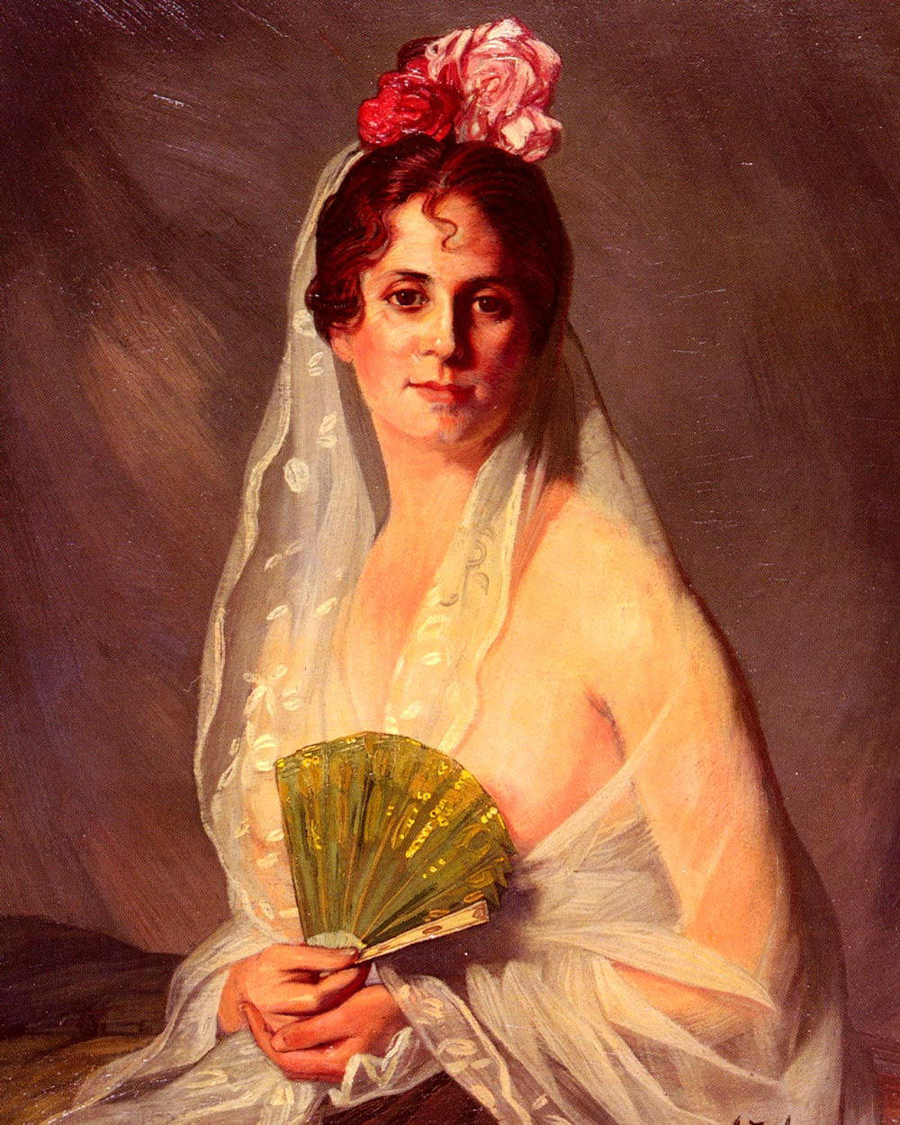 A Lady With A Fan by Eduardo Zamacois y Zabala