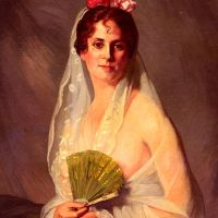 A Lady With A Fan by Eduardo Zamacois y Zabala