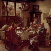 A Literary Gathering by Fritz Wagner