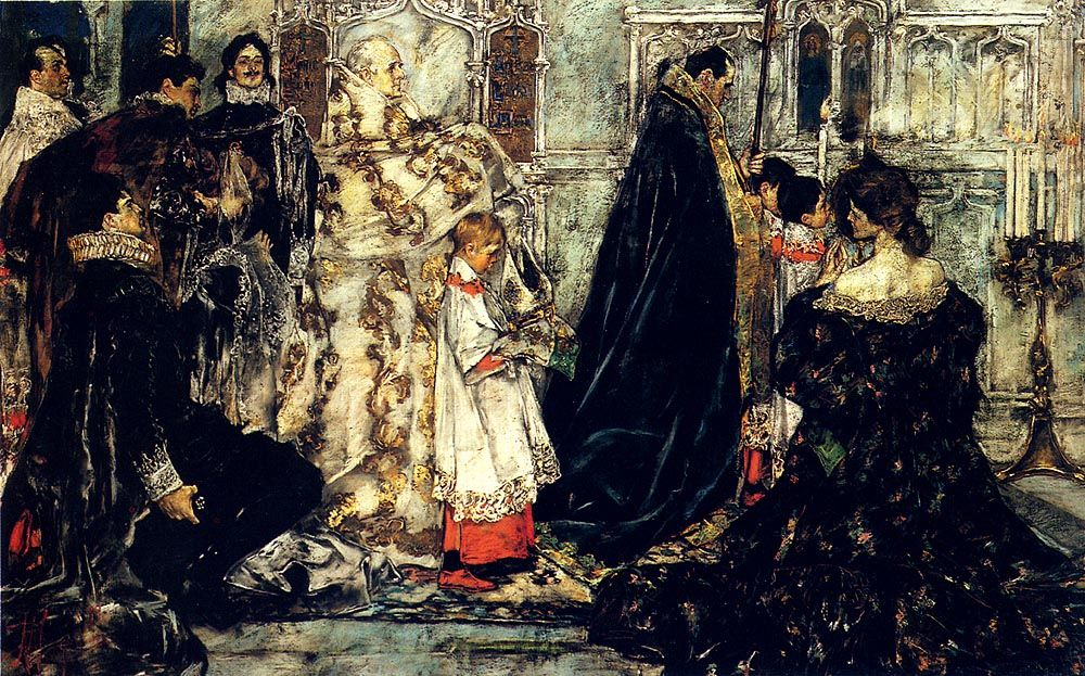 A Medieval Christmas The Procession by Albert B Wenzell