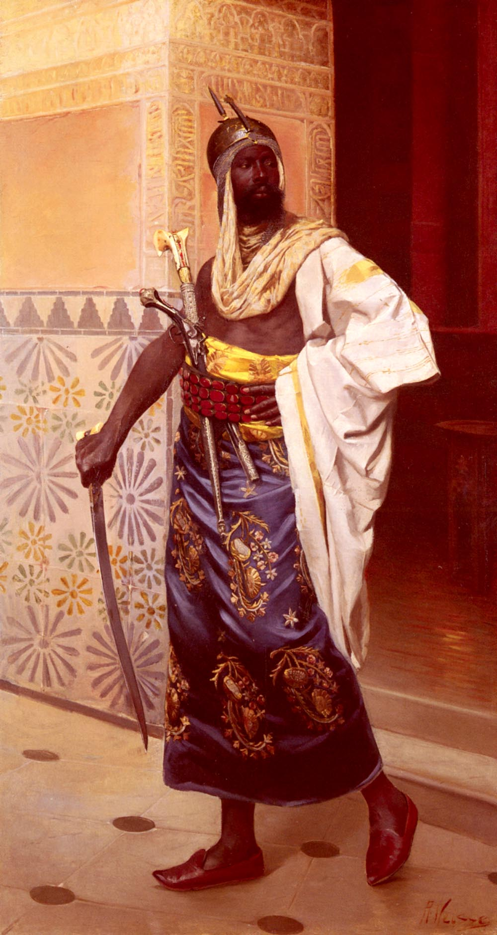 A Nubian Guard by Rudolphe Weisse