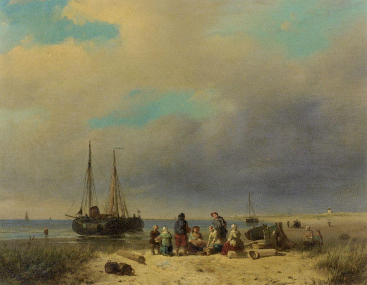 After the Catch by Jacobus Adrianus Vrolijk