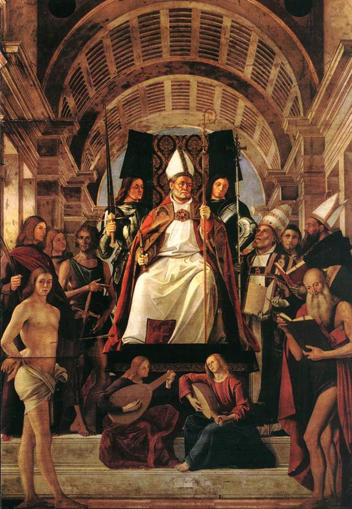 Altarpiece of St Ambrose by Alvise Vivarini