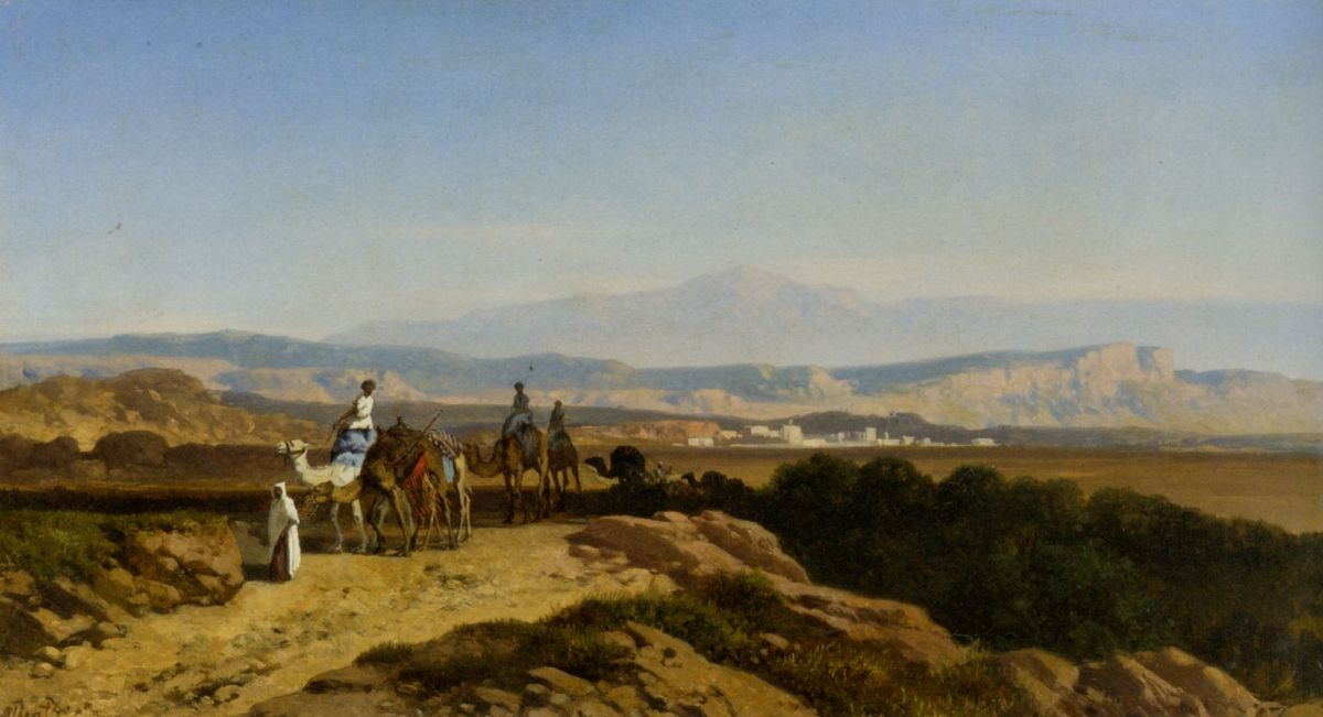 An Arab Caravan by Albert Zimmerman