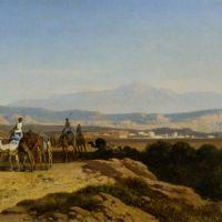 An Arab Caravan by Albert Zimmerman