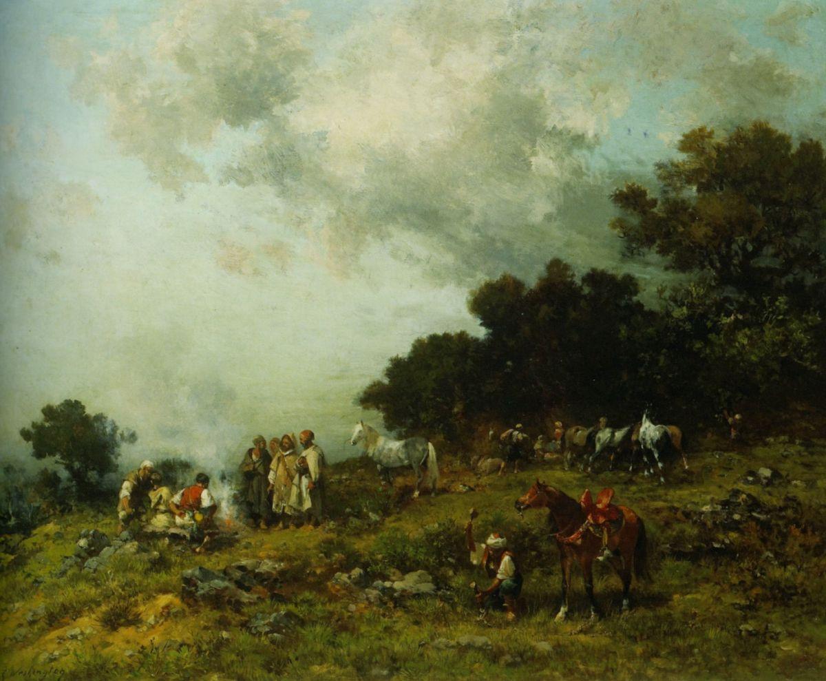 Arab Horses by Georges Washington