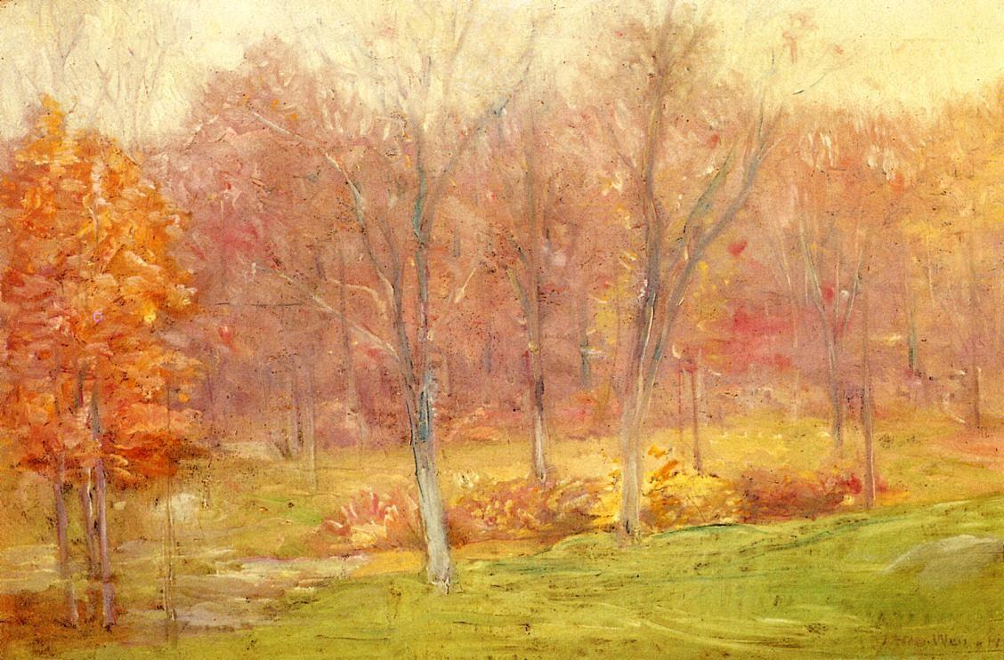 Autumn Rain by Julian Alden Weir
