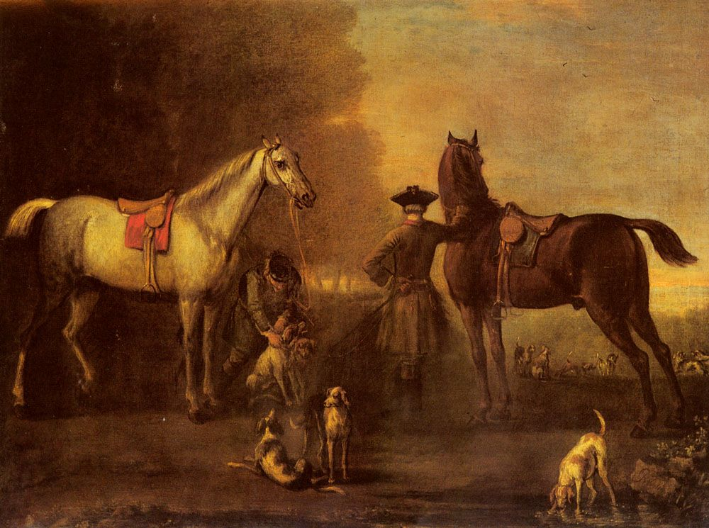 Before The Hunt by John Wootton