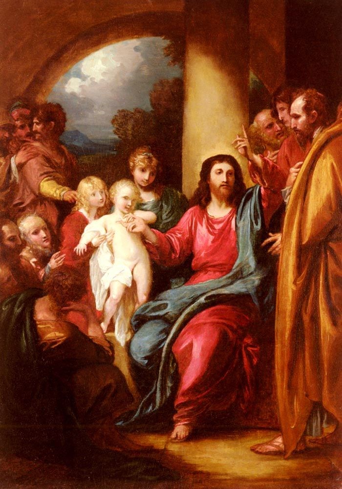 Christ Showing A Little Child As The Emblem Of Heaven by Benjamin West