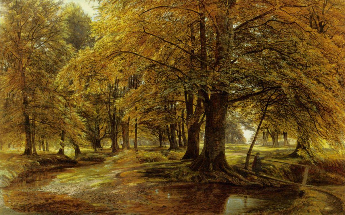 Crossing The Brook by Edmund George Warren