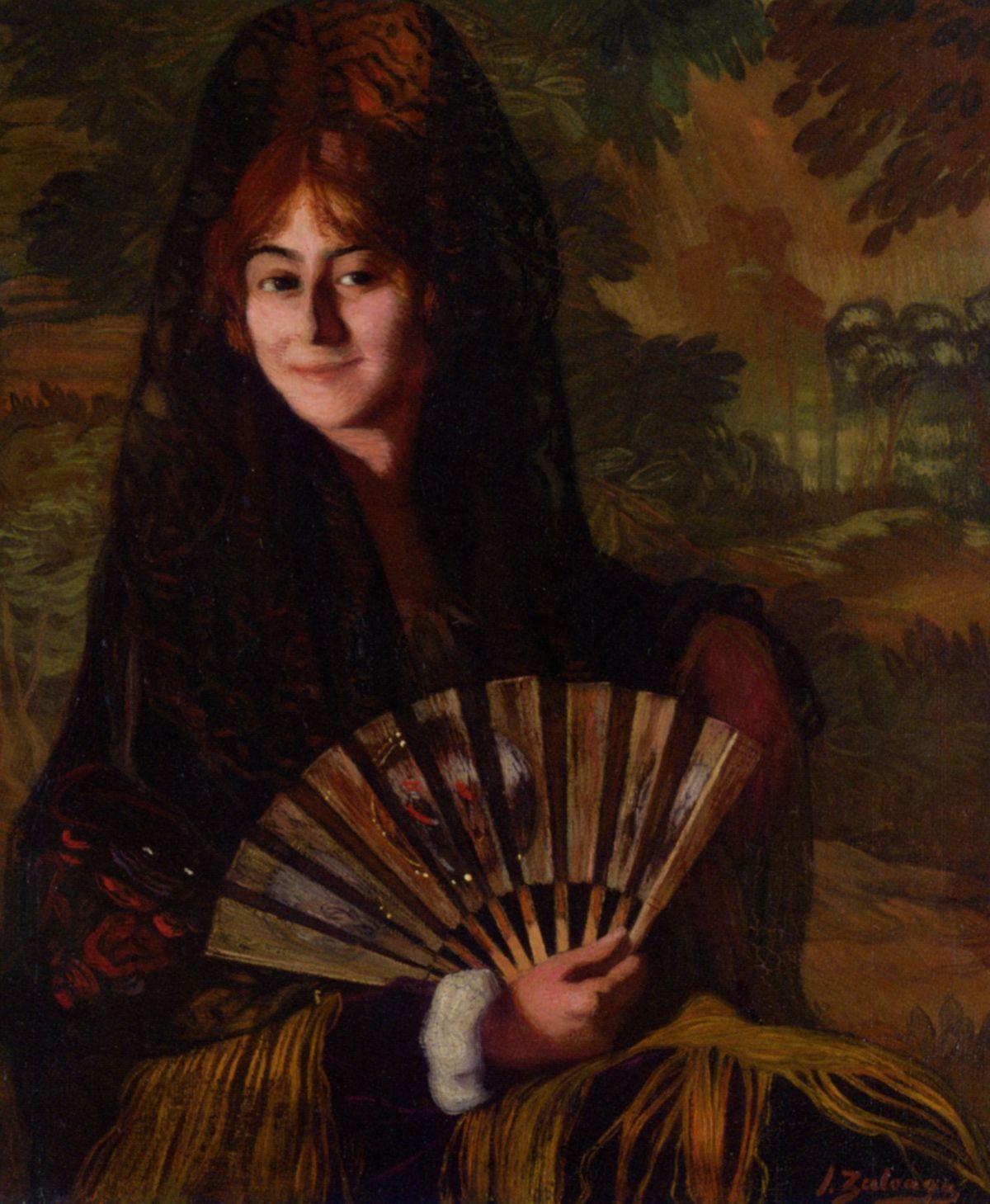 Dama con abanico by Ignacio Zuloaga y Zabaleta