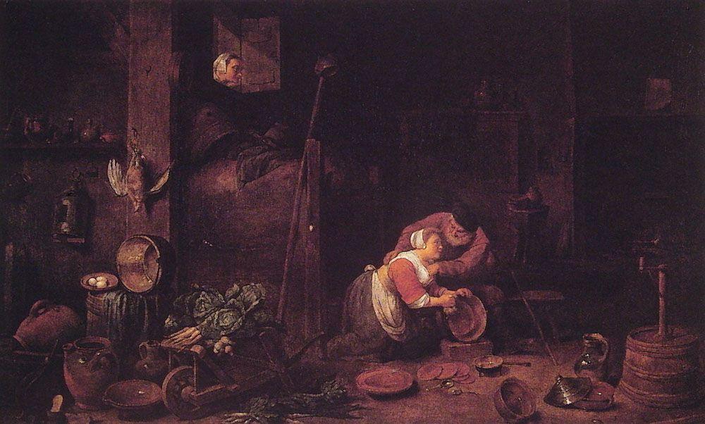Der Alte Und Die Kuchenmagd by Ferdinand Georg Waldmuller