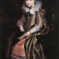 Elisabeth (or Cornelia) Vekemans as a Young Girl by Cornelis De Vos