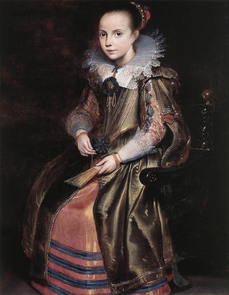 Elisabeth or Cornelia Vekemans as a Young Girl by Cornelis De Vos