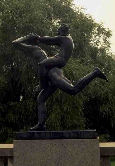 Father and Son Playing by Gustav Vigeland