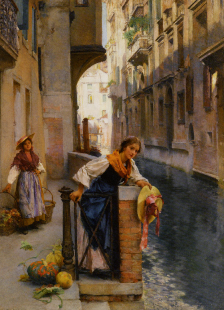 Fruit Sellers from the Islands Venice by Henry Woods