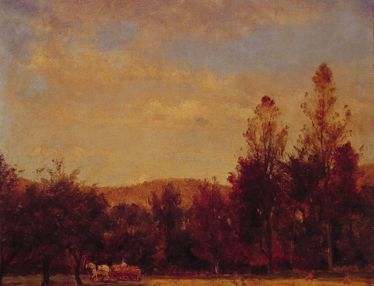 Gathering the Buckwheat by Thomas Worthington Whittredge