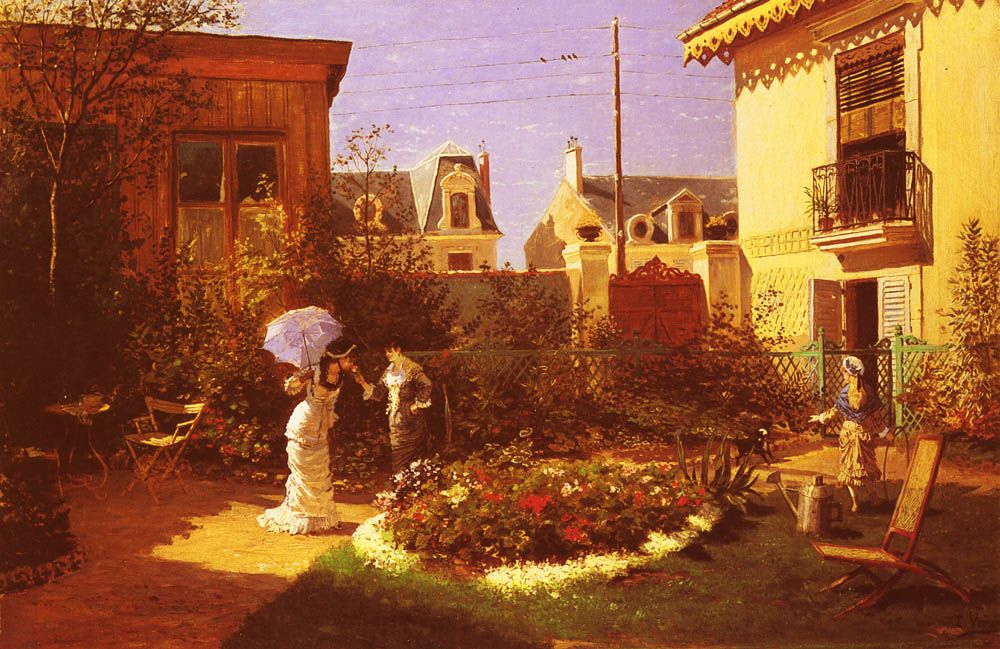 Jeunes Femmes Au Jardin by Leon Joseph Voirin