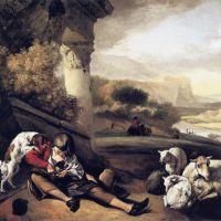 Landscape with Shepherd Boy by Jan Weenix