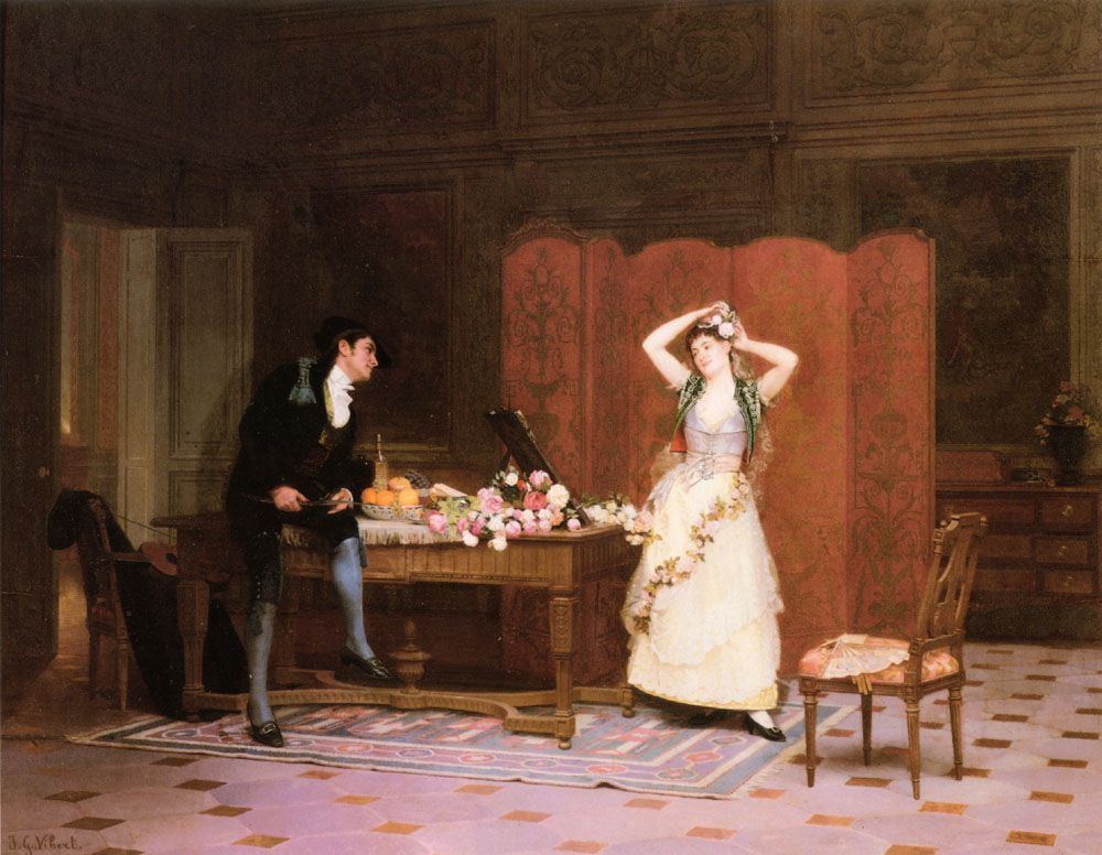 Les Apprets by Jehan Georges Vibert