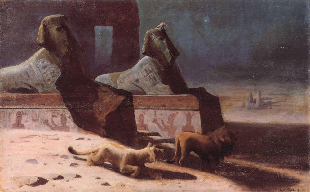 Lions et Sphinx by Gustave Wertheimer