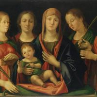 Mary and Child with Sts Mary Magdalene and Catherine by Alvise Vivarini