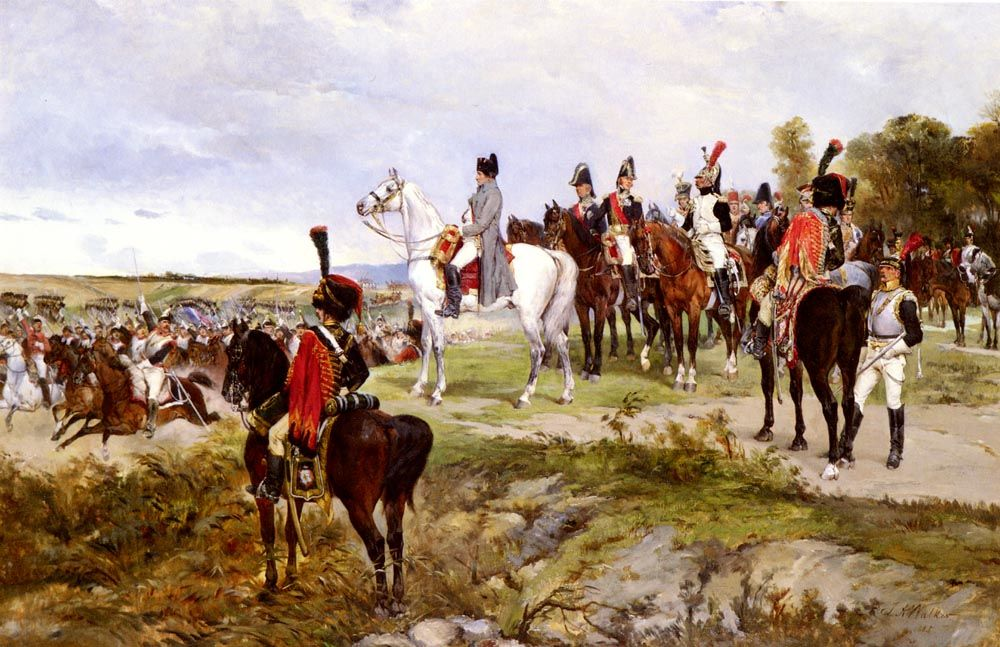 Napoleon Watching The Battle Of Friedland 1807 by James Alexander Walker