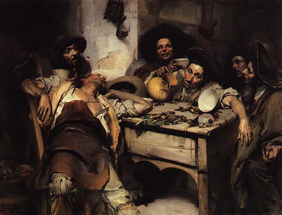 Os Bebados ou Festejando by Jose Malhoa