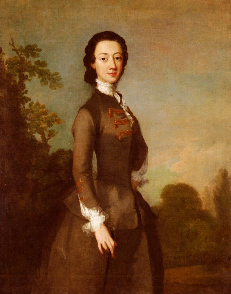 Portrait Of A Lady Possibly A Member Of The Foley Family by Richard Wilson