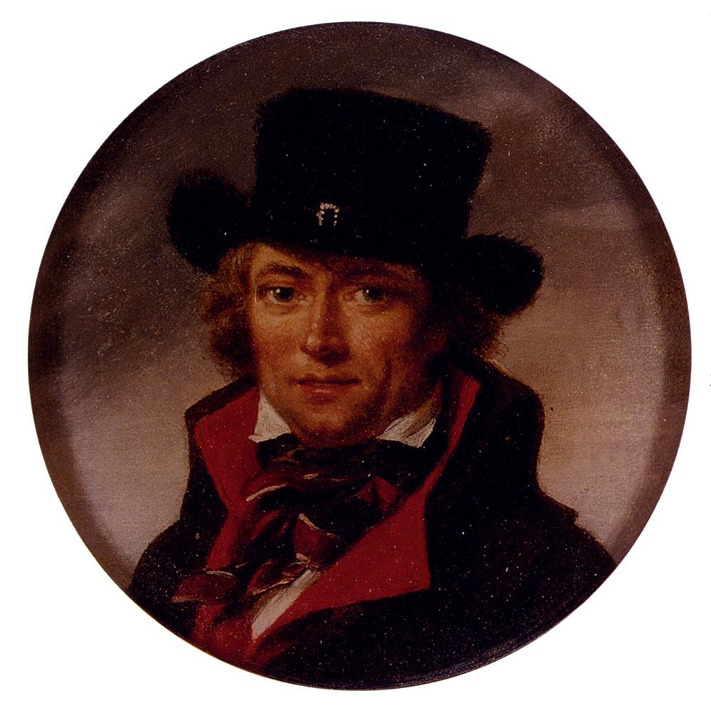 Portrait Of A Man Possibly A Self Portrait by Jean Baptiste Joseph Wicar