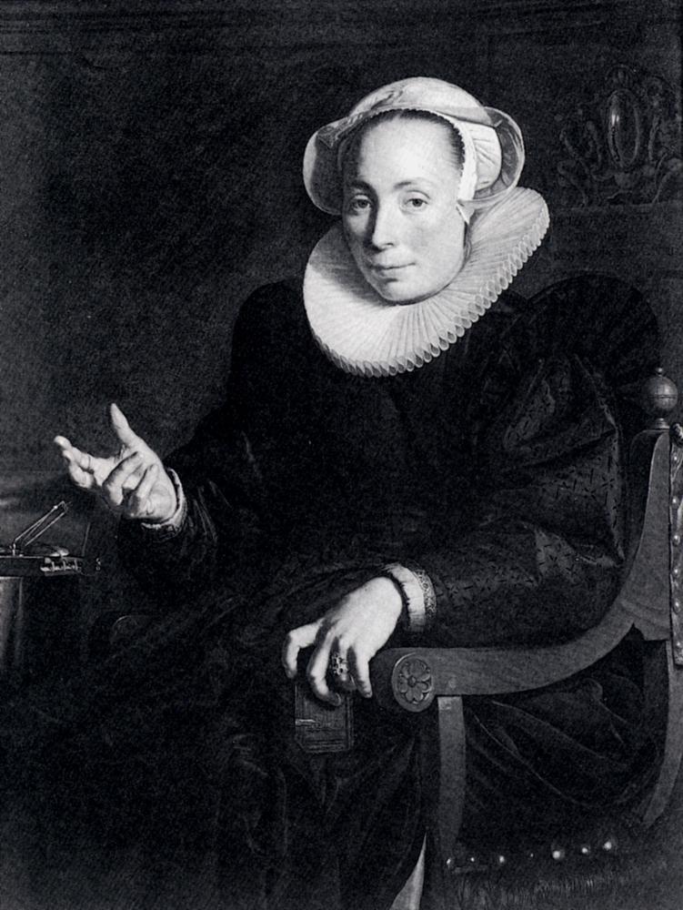 Portrait Of The Artist's Wife by Joachim Wtewael
